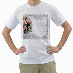 Background 1362160 1920 Men s T Shirt (white) (two Sided)