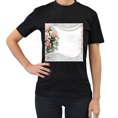 Background 1362160 1920 Women s T Shirt (black) (two Sided)