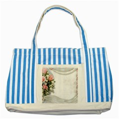 Background 1362160 1920 Striped Blue Tote Bag