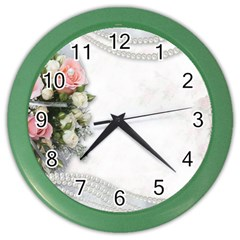 Background 1362160 1920 Color Wall Clock by vintage2030