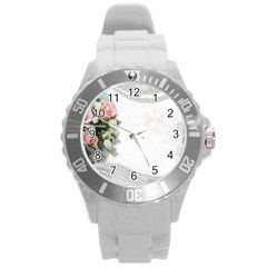 Background 1362160 1920 Round Plastic Sport Watch (l)