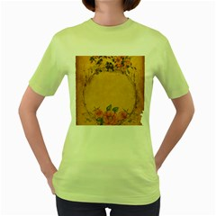 Background 1365750 1920 Women s Green T Shirt