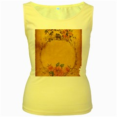 Background 1365750 1920 Women s Yellow Tank Top