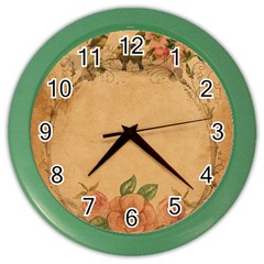 Background 1365750 1920 Color Wall Clock