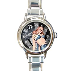 Retro 1265788 1920 Round Italian Charm Watch by vintage2030