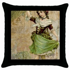 Fairy 1229005 1280 Throw Pillow Case (black) by vintage2030