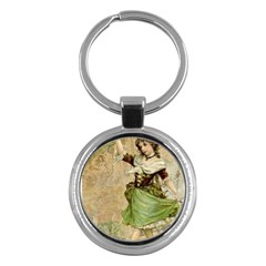 Fairy 1229005 1280 Key Chains (round)  by vintage2030