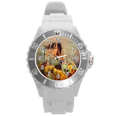 Painting 1241680 1920 Round Plastic Sport Watch (l) by vintage2030