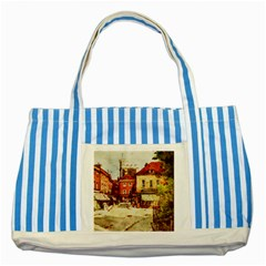 Painting 1241683 1920 Striped Blue Tote Bag by vintage2030