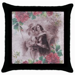 Vintage 1181680 1920 Throw Pillow Case (black) by vintage2030