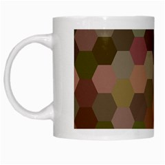 Brown Background Layout Polygon White Mugs