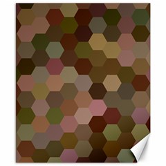 Brown Background Layout Polygon Canvas 8  X 10  by Sapixe
