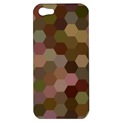 Brown Background Layout Polygon Apple Iphone 5 Hardshell Case by Sapixe