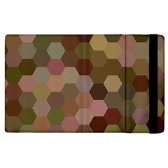 Brown Background Layout Polygon Apple Ipad 3/4 Flip Case by Sapixe