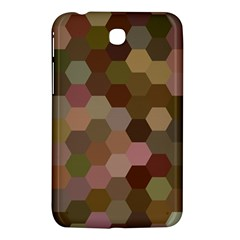 Brown Background Layout Polygon Samsung Galaxy Tab 3 (7 ) P3200 Hardshell Case  by Sapixe