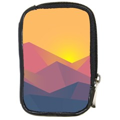 Image Sunset Landscape Graphics Compact Camera Leather Case by Sapixe