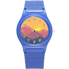 Image Sunset Landscape Graphics Round Plastic Sport Watch (s) by Sapixe