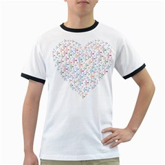 Heart Colorful Transparent Religion Ringer T