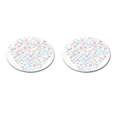 Heart Colorful Transparent Religion Cufflinks (oval)