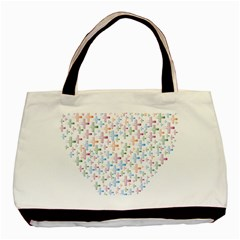 Heart Colorful Transparent Religion Basic Tote Bag (two Sides)