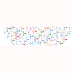 Heart Colorful Transparent Religion Large Bar Mats