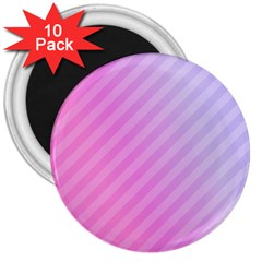 Diagonal Pink Stripe Gradient 3  Magnets (10 Pack)  by Sapixe