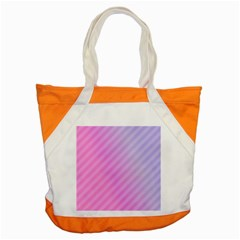 Diagonal Pink Stripe Gradient Accent Tote Bag by Sapixe