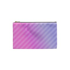 Diagonal Pink Stripe Gradient Cosmetic Bag (small) by Sapixe