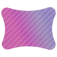 Diagonal Pink Stripe Gradient Jigsaw Puzzle Photo Stand (bow)