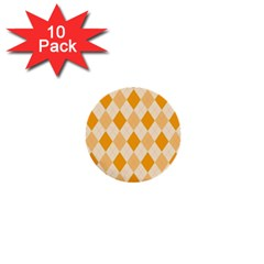 Argyle Pattern Seamless Design 1  Mini Buttons (10 Pack)