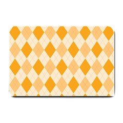 Argyle Pattern Seamless Design Small Doormat