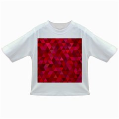 Maroon Dark Red Triangle Mosaic Infant/toddler T Shirts