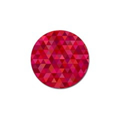 Maroon Dark Red Triangle Mosaic Golf Ball Marker (10 Pack) by Sapixe