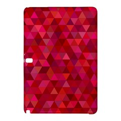 Maroon Dark Red Triangle Mosaic Samsung Galaxy Tab Pro 12 2 Hardshell Case by Sapixe