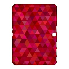 Maroon Dark Red Triangle Mosaic Samsung Galaxy Tab 4 (10 1 ) Hardshell Case  by Sapixe