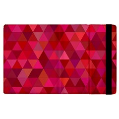 Maroon Dark Red Triangle Mosaic Apple Ipad Pro 9 7   Flip Case by Sapixe