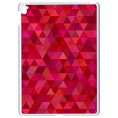 Maroon Dark Red Triangle Mosaic Apple Ipad Pro 9 7   White Seamless Case by Sapixe