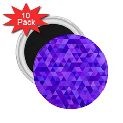 Purple Triangle Purple Background 2 25  Magnets (10 Pack)