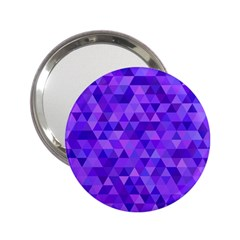 Purple Triangle Purple Background 2 25  Handbag Mirrors by Sapixe