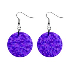 Purple Triangle Purple Background Mini Button Earrings by Sapixe