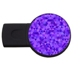 Purple Triangle Purple Background Usb Flash Drive Round (2 Gb)