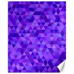 Purple Triangle Purple Background Canvas 11  X 14  by Sapixe