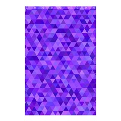 Purple Triangle Purple Background Shower Curtain 48  X 72  (small)