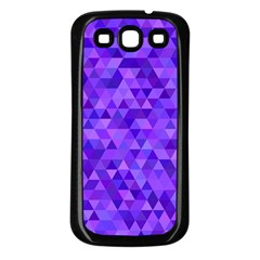 Purple Triangle Purple Background Samsung Galaxy S3 Back Case (black) by Sapixe