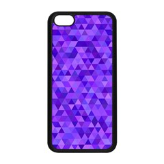 Purple Triangle Purple Background Apple Iphone 5c Seamless Case (black) by Sapixe