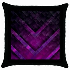 Background Wallpaper Motif Design Throw Pillow Case (black)