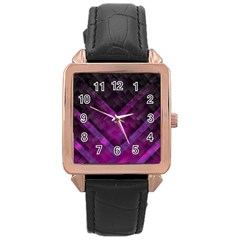 Background Wallpaper Motif Design Rose Gold Leather Watch