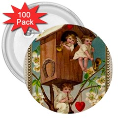 Valentine 1171220 1920 3  Buttons (100 Pack)  by vintage2030