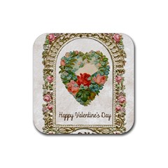 Valentines Day 1171148 1920 Rubber Coaster (square)  by vintage2030