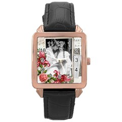 Vintage 1168512 1920 Rose Gold Leather Watch  by vintage2030